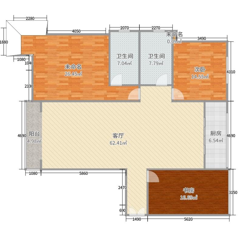 兰石a瓷画名居2室1厅2卫1厨178.00瓷画图户户型海报设计