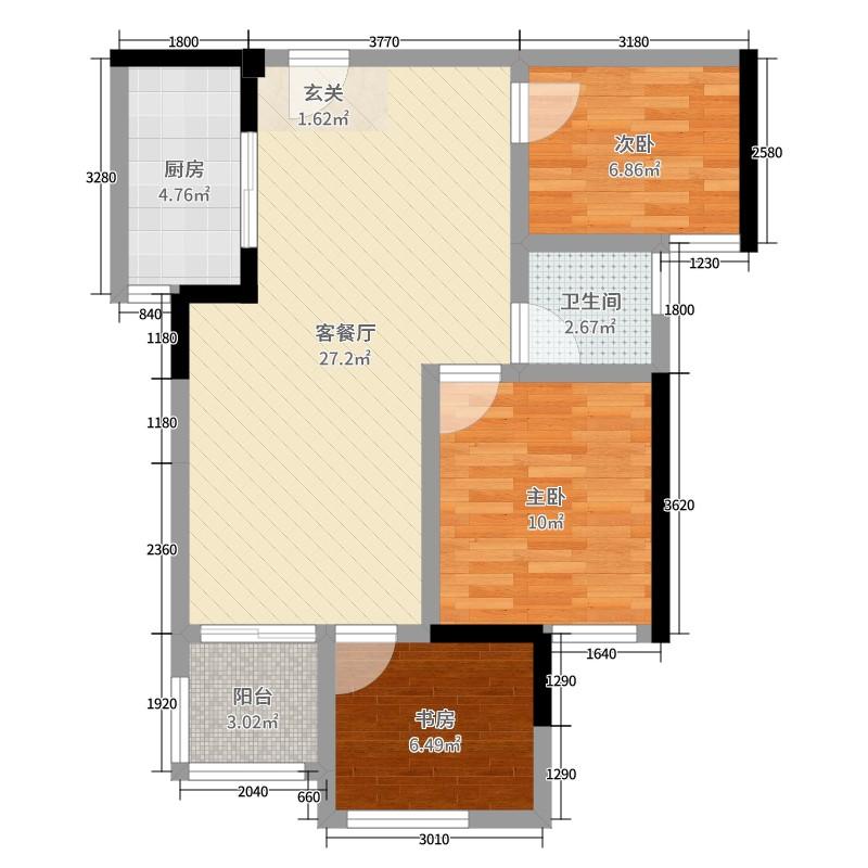 com】-浏览器打开 3室2厅1卫1厨 50-80㎡  185****2083klbn 建筑面积