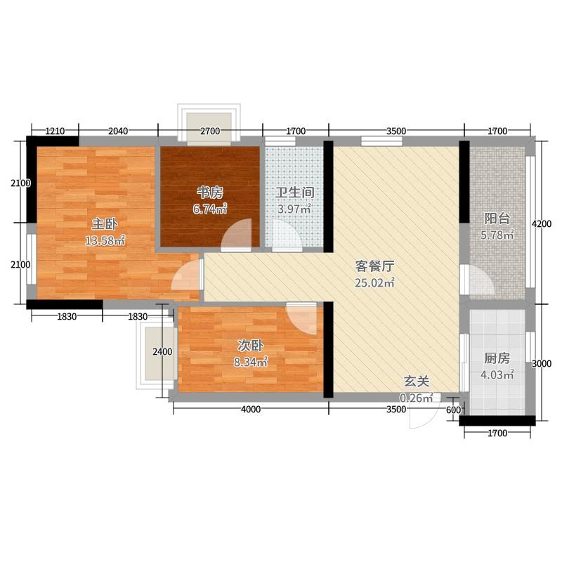 wwse78_中国户型大全 南宁 大唐盛世 3室2厅1卫1厨 80-100㎡  强子wwse 建筑